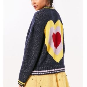 Urban Outfitters Ecote Blue Icon Bomber Sweater
